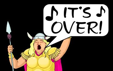 it isnt over until the fat lady sings origin