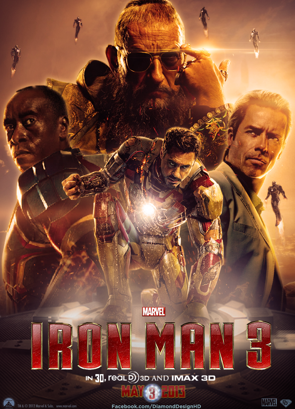 Iron Man 3 Imax Poster Galleryhipcom The Hippest